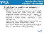science promotion national science week