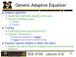 generic adaptive equalizer1