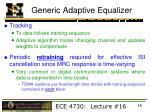 generic adaptive equalizer2