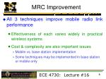 mrc improvement