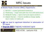 mrc issues