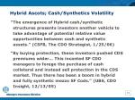 hybrid ascots cash synthetics volatility