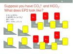 suppose you have co 3 2 and hco 3 what does ep2 look like
