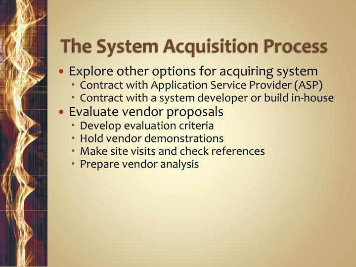 The System Acquisition Process