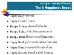 the 8 happiness boxes