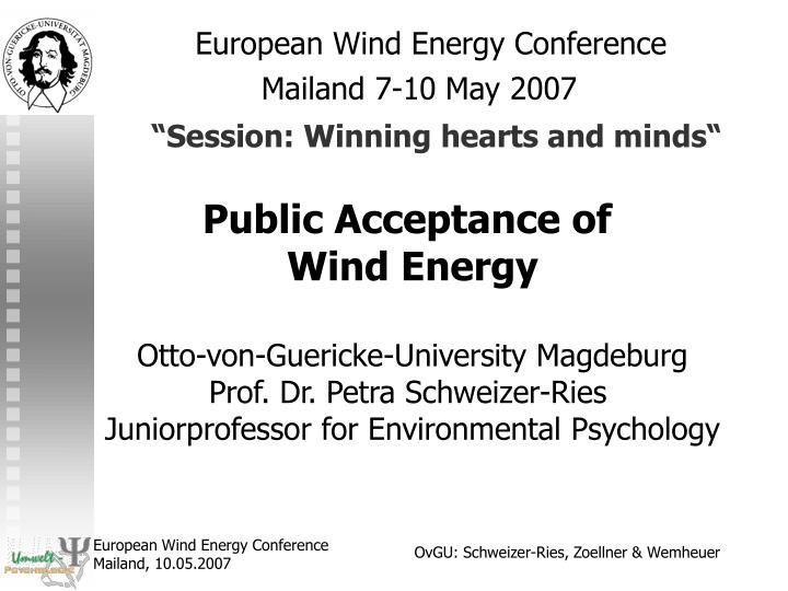 european wind energy conference mailand 7 10 may 2007 session winning hearts and minds n.