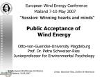 european wind energy conference mailand 7 10 may 2007 session winning hearts and minds