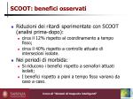 scoot benefici osservati