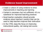 evidence based improvement