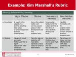 example kim marshall s rubric
