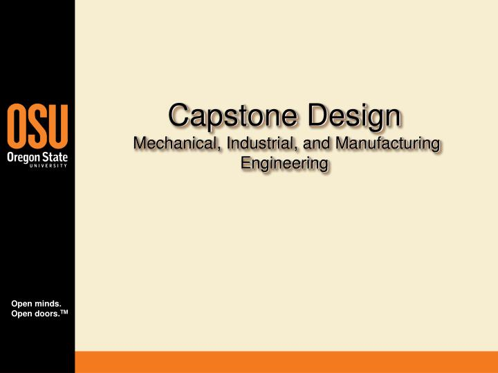 capstone design mechanical industrial and manufacturing engineering n.
