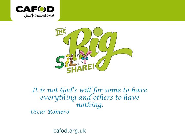 it is not god s will for some to have everything and others to have nothing oscar romero n.