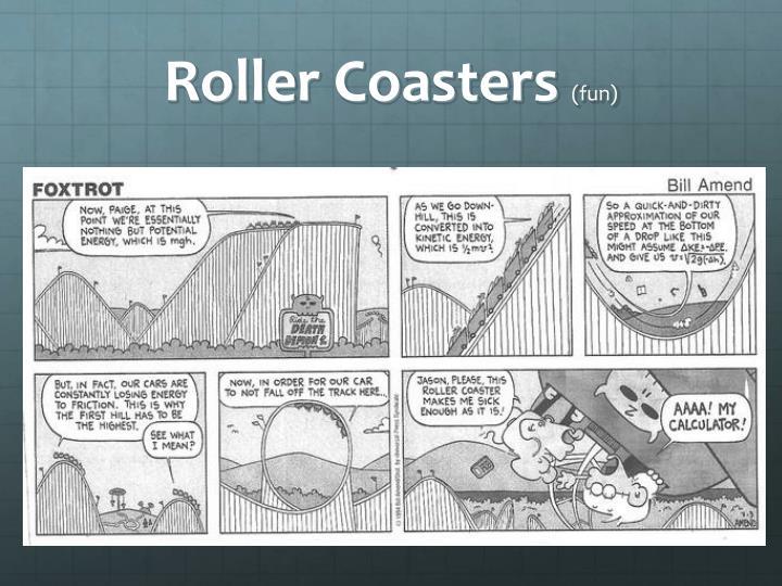 Roller coasters fun