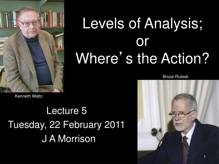 levels of analysis or where s the action n.