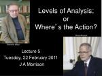 levels of analysis or where s the action