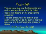 p fluid gh