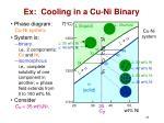 ex cooling in a cu ni binary