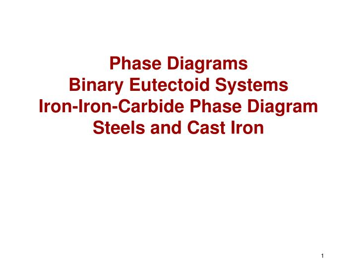 phase diagrams binary eutectoid systems iron iron carbide phase diagram steels and cast iron n.