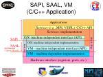 sapi saal vm c c application