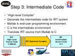 step 3 intermediate code