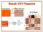 recall dct features