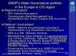 undp s water governance portfolio in the europe cis region