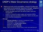 undp s water governance strategy
