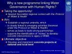 why a new programme linking water governance with human rights