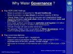 why water governance