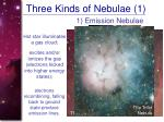three kinds of nebulae 1