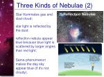 three kinds of nebulae 2
