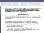 fair information practices questions recommendations2