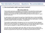 fair information practices questions recommendations3