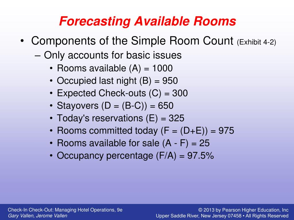 PPT - Forecasting Availability and Overbooking PowerPoint