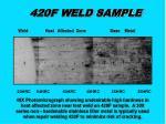 420f weld sample
