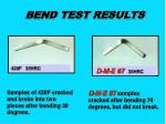 bend test results