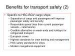 benefits for transport safety 2