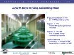john w keys iii pump generating plant