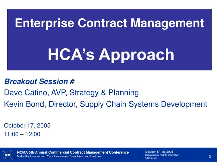 Enterprise Contract Management