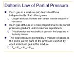 dalton s law of partial pressure