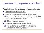 overview of respiratory function