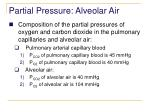 partial pressure alveolar air