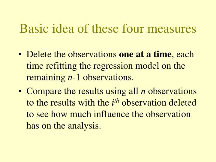 Basic idea of these four measures