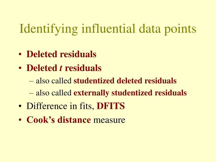 Identifying influential data points
