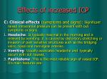 effects of increased icp2