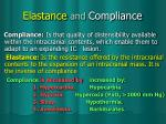 elastance and compliance