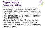 organizational responsibilities