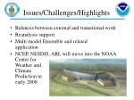 issues challenges highlights