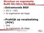 structuur en organisatie buso so 2011 03 buso