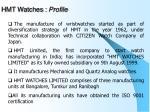 hmt watches profile